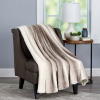 Faux Fur Throw Blanket- Luxurious, Soft, Hypoallergenic Faux Rabbit Fur Blanket with Sherpa Back for Couch, Bed, Decor, 60?x70? By LHC (Cream Beige)