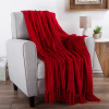 Chenille Throw Blanket- For Couch, Home D�cor,Sofa & Chair-Oversized 60? x 70?- Lightweight, 5? Fringe, Ultra-Soft & Shiny in Vineyard Red by LHC