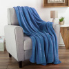 Flannel Fleece Throw Blanket- For Couch, Home D�cor, Sofa & Chair- Oversized 60? x 70?- Lightweight, Soft & Plush Microfiber in Infinity Blue by LHC
