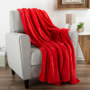 Flannel Fleece Throw Blanket- For Couch, Home D�cor, Sofa & Chair- Oversized 60? x 70?- Lightweight, Soft & Plush Microfiber in Crimson Red by LHC