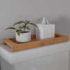 Bamboo Bathroom Vanity Tray-Natural Wood Eco-Friendly Holder for Towels, Toiletries, Cosmetics, D�cor and More-Modern Bath Accessories by Lavish Home