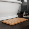 Bamboo Bath Mat-Eco-Friendly Natural Wooden Non-Slip Slatted Design Mat for Indoor and Outdoor Bathtub, Shower, Sauna, Pool, or Hot Tub by Lavish Home