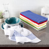 Kitchen Towels-Set of 8-16?x28? Absorbent 100% Cotton Hand Towel-Vintage Striped in 4 Colors & 4 Solid Dishtowels for Drying by Lavish Home