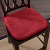 Memory Foam Chair Cushion for Dining Room, Kitchen, Outdoor Patio and Desk Chairs- Machine Washable Pad with Nonslip Back by Lavish Home- Burgundy