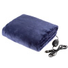 Electric Car Blanket-Outdoor Heated 12V Travel Throw-Fleece, 3 Settings, Auto Shutoff-For Road Trips, Tailgating, Camping and More by Stalwart-(Blue)