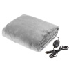 Electric Car Blanket-Outdoor Heated 12V Travel Throw-Fleece, 3 Settings, Auto Shutoff-For Road Trips, Tailgating, Camping and More by Stalwart-(Gray)