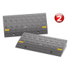 Curb Ramps- 4 Ton Capacity Ramp Set for Cars, Vehicles, Trucks, RV, ATVs, Motorcycles, Hand Trucks, Mowers, Carts & More, Set of 2 by Stalwart