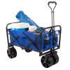 Folding Wagon ? Collapsible All-Terrain Utility Pull Cart with Extra Wide Wheels for Camping, Beach, Sports or Grocery Shopping by Wakeman Outdoors