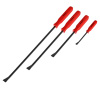 Pry Bar ? 4 Piece Breaker and Crowbar Hand Tool Set with Ergonomic Nonslip Grip and Steel Alloy Angled Chisels for Garage, DIY and Repair by Stalwart