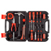 Tool Kit ? 36 Heat-Treated Pieces with Carrying Case - Essential Steel Hand Tool and Basic Repair Set for Apartments, Dorms, Homeowners by Stalwart
