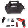 3.6V Cordless Drill with Rechargeable Lithium Ion Battery and 101 Piece Accessory Set - Portable Power Tool with Bits, Drivers and Bag by Stalwart