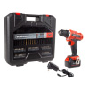20V Cordless Drill with Rechargeable Lithium Ion Battery and 71 Piece Accessory Set - Portable Power Tool with Bits, Drivers and Belt Clip by Stalwart