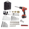 20V Cordless Drill with Rechargeable Lithium-Ion Battery and 89 Piece Accessory Set - Portable Power Tool with Bits, Drivers and Brushes by Stalwart