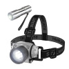 LED Headlamp, Adjustable Headband and Flashlight, Set of 6, Battery Operated 48 Lumen LED Bulbs for Camping, Running, Hiking and Emergency by Stalwart
