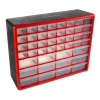 44 Drawer Storage Cabinet-Plastic Organizer with 12 Large & 32 Small Compartments-Desktop or Wall Mount for Hardware, Parts, Crafts & More by Stalwart