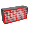 40 Drawer Storage Cabinet- Plastic Compartment Organizer- Desktop or Wall Mount Container for Hardware, Parts, Crafts, Beads & Tools by Stalwart