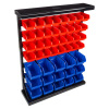 47 Bin Storage Rack Organizer- Wall Mountable Container with Removeable Drawers for Tools, Hardware, Crafts, Office Supplies and More by Stalwart