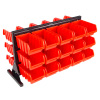 30 Bin Storage Rack Organizer- Two-Sided Organizer with Removeable Containers for Garage, Tools, Hardware, Crafts, Office Supplies & More by Stalwart
