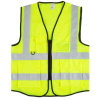 High Visibility Reflective Vest ? ANSI Standard Fluorescent Green Safety Workwear with 6 Pockets and Zippered Front by Stalwart (Large, X-Large)