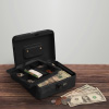 Cash Box ? Locking Money Safe with Removable 5 Slot Coin Tray and Combination Entry for Yard Sales, Markets and Concession Stands by Stalwart (Black)
