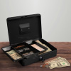 Cash Box ? Locking Petty Cash Safe with Removable 5 Slot Coin Tray and Key Entry for Yard Sales, Markets and Concession Stands by Stalwart (Black)
