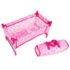 Baby Doll Bed and Playpen ? Mini Pack and Play Crib for 15-Inch Dolls and Stuffed Animals ? Pillow, Blanket and Carrying Bag Included by Hey! Play!