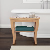 Shower Bench-Water Resistant Natural Eco-Friendly Bamboo with Storage Shelf for Bathroom, Spa or Sauna by Lavish Home