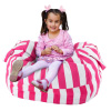 Stuffed Animal Storage Chair - Canvas Beanbag Style Toddler Lounge Seat ? Blanket and Pillow Organizer for Bedrooms and Play Rooms by Hey! Play!