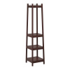 Coat Rack-Modern Freestanding Wooden Stand with Hanging Hooks and 3 Tiers of Shelves-For Hallway, Entryway or Office by Lavish Home (Espresso)