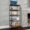 5-Tier Bookshelf-Open Industrial Style Etagere Shelving Unit for Rustic Decoration, Storage and Display in Any Room by Lavish Home