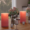 LED Candle with Remote Control-Rose Design Scented Wax, Realistic Flickering or Steady Flameless Pillar Light-Ambient Home D�cor by Lavish Home 2PC