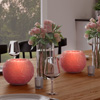 LED Candle with Remote Control-Rose Ball Design Scented Wax, Realistic Flickering or Steady Flameless Sphere Light-Ambient Home Decor by Lavish Home