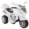 Ride-On Toy Trike Motorcycle ?Battery Operated Electric Tricycle for Toddlers with Built-in Sound and Working Headlights by Lil Rider (White)