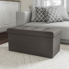 Folding Storage Bench Ottoman? 30? Tufted Foam Padded Lid-Removable Bin-Organizer for Home, Bedroom, Living Room & Kid Toys by Lavish Home (Dark Gray)
