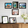 8x10 Picture Frame Set- 6 Pack- Gallery Photo Display - Black Frames for Wall Mounting or Tabletop Format- Glare Resistant Glass by Lavish Home