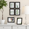 5x7 Picture Frame Set- 6 Pack- Gallery Photo Display - Black Frames for Wall Mounting or Tabletop Format-Glare Resistant Glass by Lavish Home