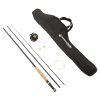 Fly Fishing Pole ? 3 Piece Collapsible 97-Inch Fiberglass and Cork Rod and Ambidextrous Reel Combo with Carry Case and Accessories by Wakeman Outdoors