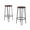 Bar Height Stools-Backless Barstools with Hairpin Legs, Wood Seat-Kitchen or Dining Room- Modern Farmhouse Accent Furniture by Lavish Home (Set of 2)