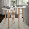 Nesting End Tables Mid-Century Modern Wood Contemporary D�cor and Home Accent Table with Circular Top by Lavish Home (White, Set of 2)