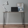 Desk with Hairpin Legs-Modern Industrial Style D�cor, Woodgrain-Look and Steel Accent Furniture for Living Room, Entryway, Home Office by Lavish Home