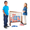 4-In-A-Row--Giant Classic Wooden Game for Indoor and Outdoor Play--2 Player Strategy and Skill Fun Backyard Lawn Toy for Kids and Adults by Hey! Play!