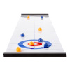Tabletop Curling Game - Portable Indoor Desktop Roll Up Magnetic Competition Board Game with Eight Stones for Kids and Adults by Hey! Play!