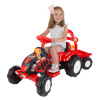 Ride On Tractor and Trailer- Battery Powered Vehicle for Indoor or Outdoor Play-Fun Riding Toy for Boys and Girls Ages 3-5 by Lil? Rider (Red)