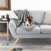 Waterproof Pet Blanket ? 40inx30in Plush Lap Throw Protects Couch, Chair, Car, Bed from Spills, Stains, or Fur-Machine Washable by Petmaker (Gray)