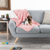Waterproof Pet Blanket ? 40inx30in Plush Lap Throw Protects Couch, Chair, Car, Bed from Spills, Stains, or Fur-Machine Washable by Petmaker (Pink)