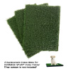 Replacement Grass Mats- Set of 3 Turf Pads for Puppy Potty Trainer (Tray System Not Included)- Indoor Restroom for Puppies & Small Pets by PETMAKER