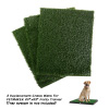 Replacement Grass Mats- Set of 3 Turf Pads for Puppy Potty Trainer (Tray System Not Included)- Indoor Restroom for Puppies & Large Pets by PETMAKER