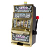 Slot Machine Coin Bank ? Electronic Realistic Mini Table Top Novelty Casino Toy with Lever for Kids and Adults by Trademark Gameroom (Crazy Diamonds)