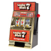 Slot Machine Coin Bank ? Realistic Mini Table Top Novelty Las Vegas Casino Style Toy with Lever for Kids and Adults by Trademark Gameroom (Lucky 7s)