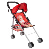 Toy Stroller for 10? Baby Dolls- Foldable, Lightweight Umbrella Stroller with Rear Basket and Canopy for Girls, Boys, Kids and Toddlers by Hey! Play!